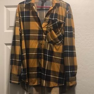Rue 21 Long Sleeved Plaid Shirt